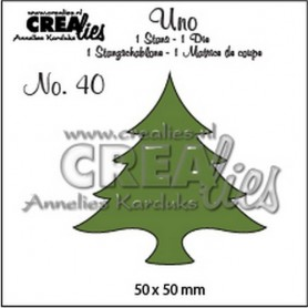 Crealies Uno no. 39 Dicken Baum 50 x 50 mm