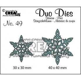 Crealies Duo Dies no. 49 Schneeflock no. 6 30x30 mm-40x40 mm