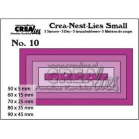 Crealies Crea-nest-dies small no. 10 Rechtecke max. 90 x 45 mm