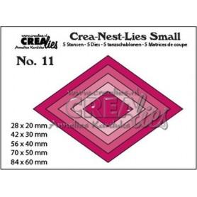 Crealies Crea-nest-dies small no. 11 Rhombisch Crealies Crea-nest-dies small no. 11 Rhombisch max. 84 x 60 mm
