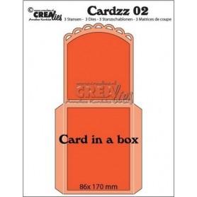 Crealies Cardzz no 2 Card in a box CLCardzz02 / 86 x 170 mm