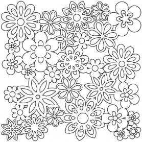 Crafter's Workshop Template 12 x 12 Flowers